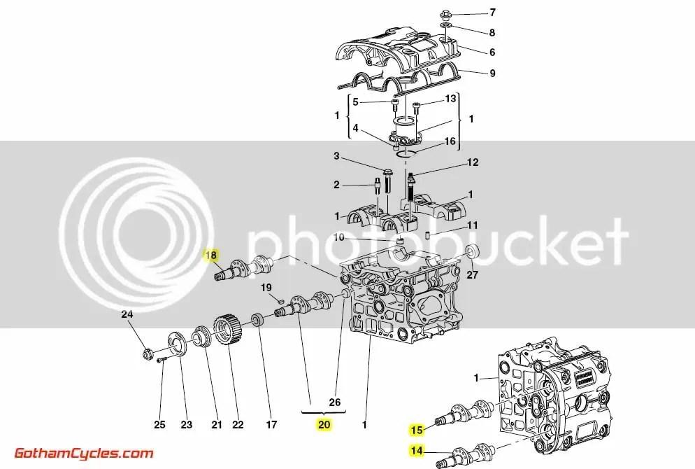Ducati Camshafts: 749 SUPERBIKE 749 749S 14821651A