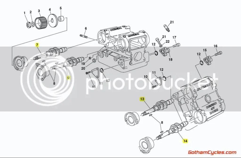 Ducati Camshafts SPS: 916SPS/996SPS SUPERBIKE 916SPS