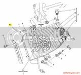 Ducati Radiator Silver: Monster S4/S4R 54840291B,54840291A