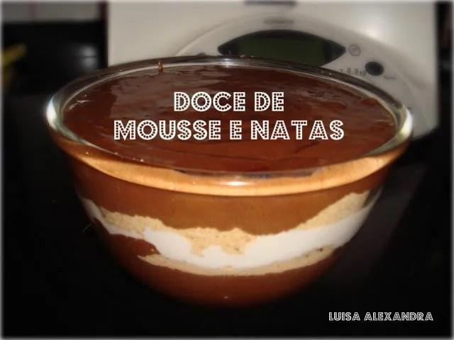 Doce de Mousse e Natas