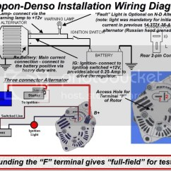 Alternator Diagram Wiring Lighted Switch Denso P Ig L Get Free Image