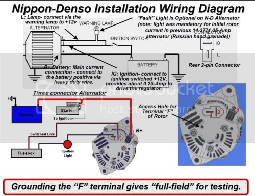 small resolution of denso voltage regulator wiring diagram denso free wiring diagrams 4 wire delco alternator gm 3 wire