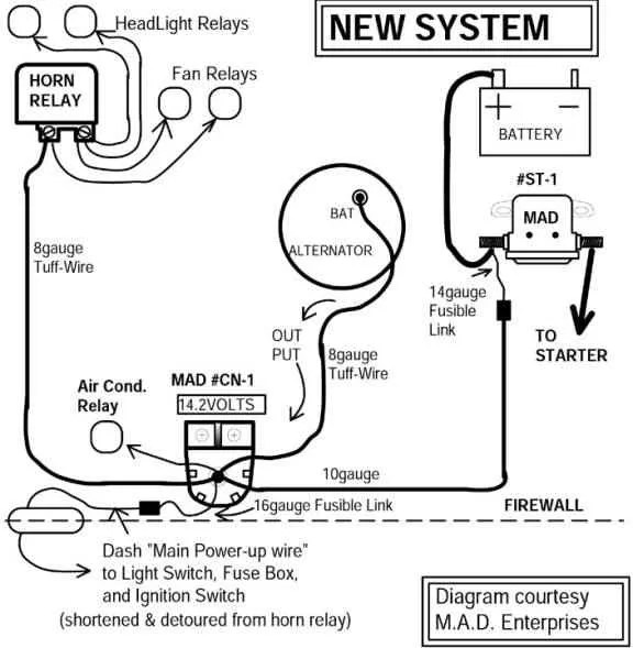 3 Wire 140 Amp Alternator Wiring Diagram