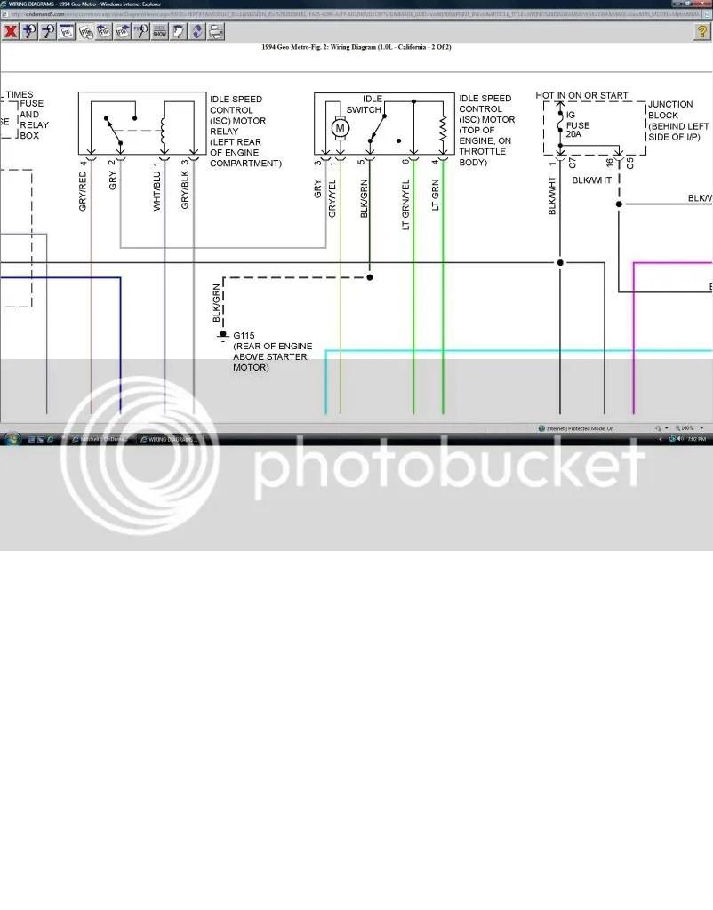 medium resolution of 1994 geo metro engine diagram
