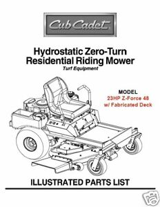 Cub-Cadet-Zero-Turn-Z-Force-48-Parts-Manual
