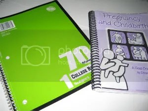 Notebook and book