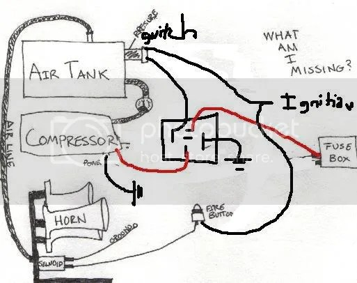horn wiring diagram fridge compressor train wire auto electrical related with