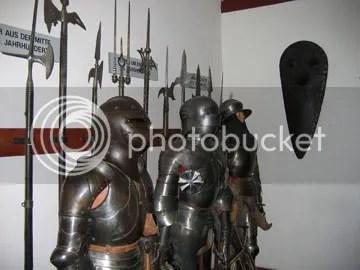 Armor display inside Marksberg castle