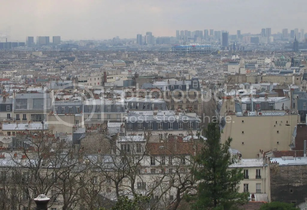 View of dirty, dirty Paris from Sacre Cour Cathedral