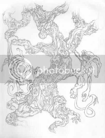 Art: Tree of sorrows (demon monkeys)