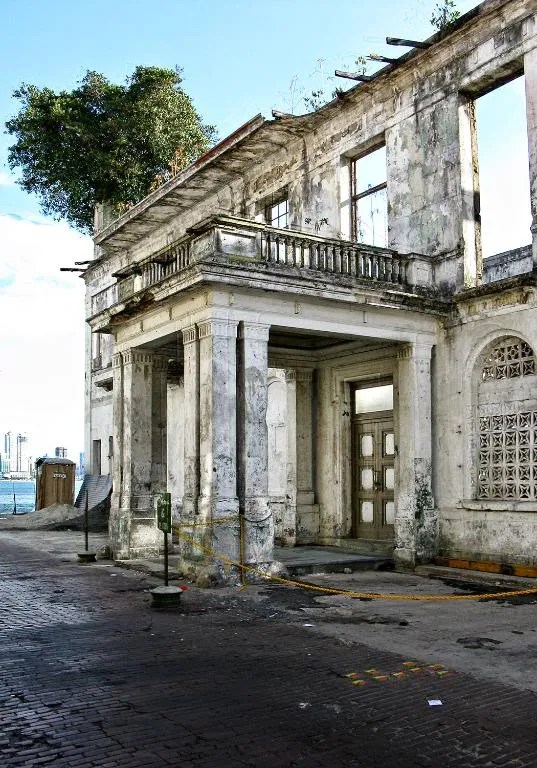 The front section of the old Club Union located at Casco Viejo in Panama City, Panama.