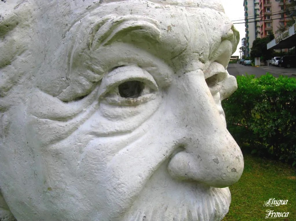 A side view of Albert Einsteins face.  His eyes are so detailed, they seem to notice me while I took the shot.  (Credit:  Omar Upegui R.)