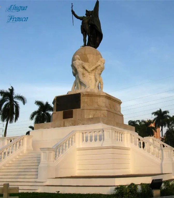 The statue of Vasco Nuñez de Balboa located at the Coastal Strip in Panama City, Panama.  (Credit:  Omar Upegui R.)