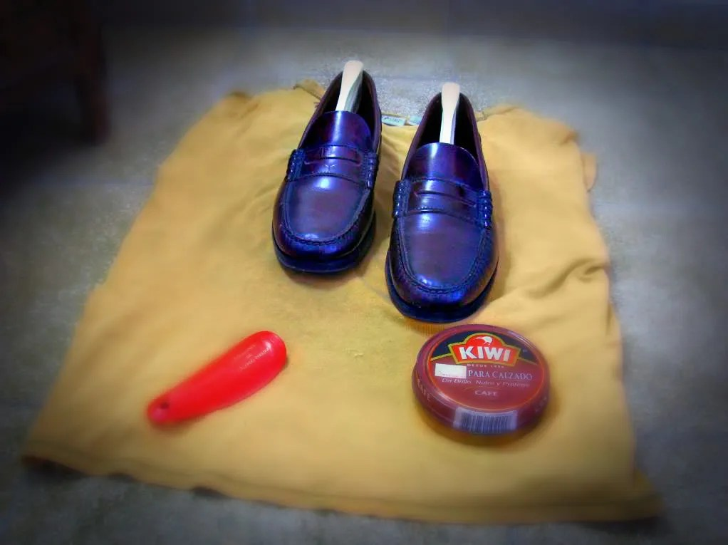 Photograph of my new classic Berkley Florsheim shoes in Burgundy color. I have used them only a couple of times. I love its casual style.