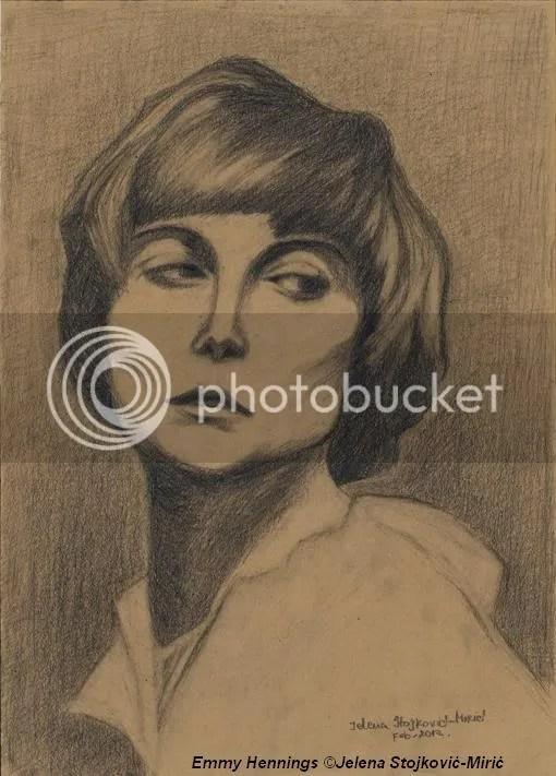 "Portret Emmy Hennings, Portret ""Emmy Hennings""Author:Jelena Stojkovi�-Miri�(foramat 36x50)"