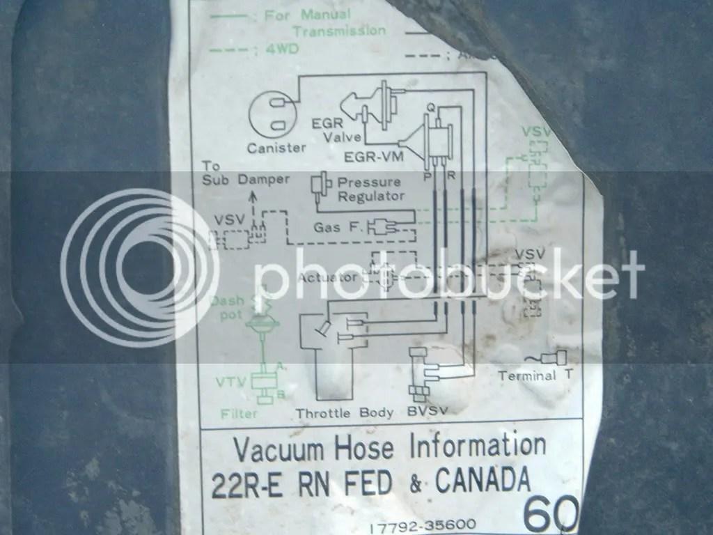 85 22re wiring diagram context visio example toyota pickup vacuum schemes