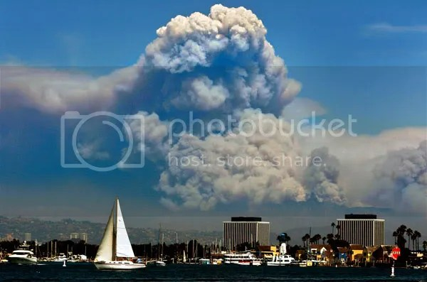 Los Angeles Fire from Marina Del Rey