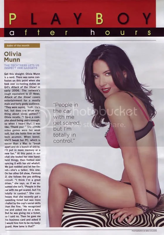 Olivia Munn playboy photo taken by Brie Childers