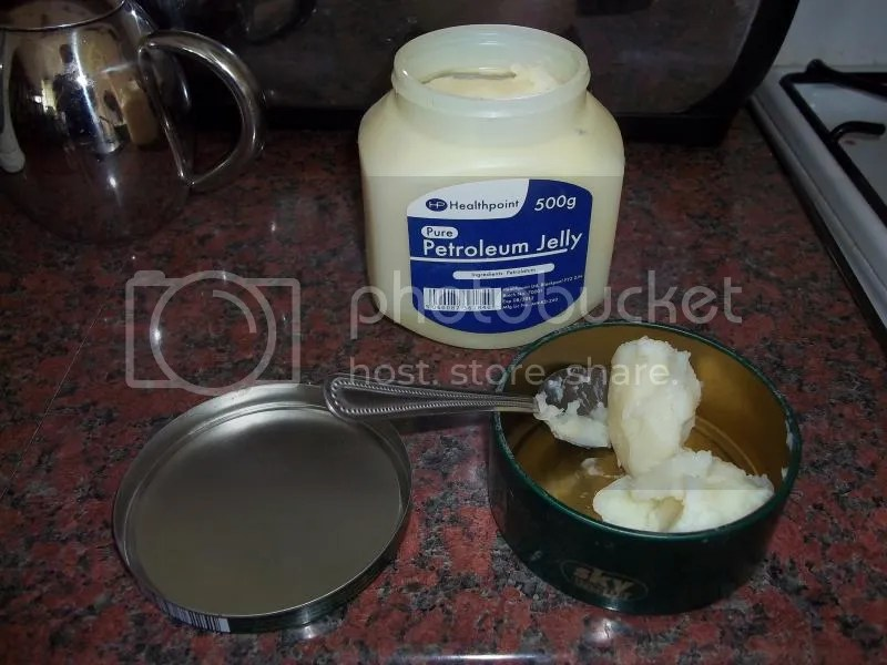 Dishing out the petroleum jelly.