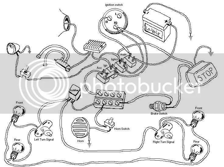 Motorcycle Turn Signal Wiring Kit