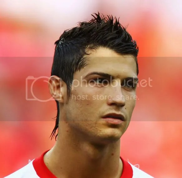 Cristiano Ronaldo Hairstyles Curly Faux Hawk Mullet & Taper