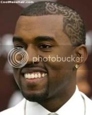 kanye west short hairstyles buzz