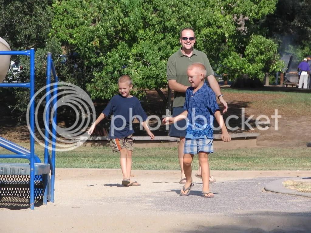 The guys having fun