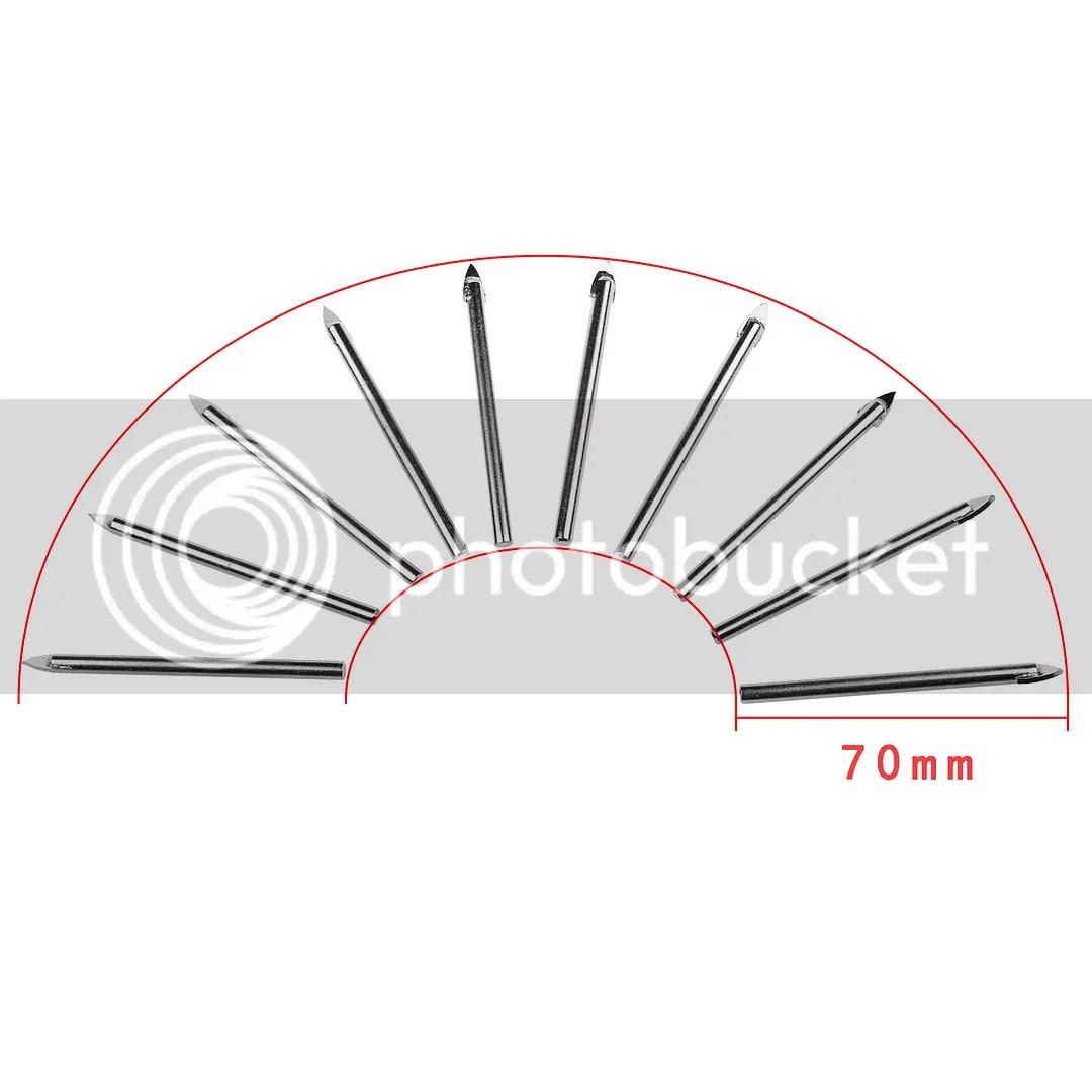 10 x 6MM TILE GLASS CERAMIC MIRROR TUNGSTEN CARBIDE DRILL