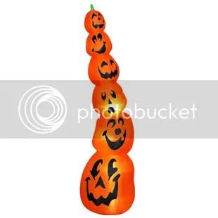 Airblown Slender Pumpkin Stack