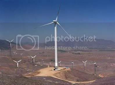 a larger more efficient turbine that is better positioned to tap into stronger winds higher off the ground and many smaller older turbines.