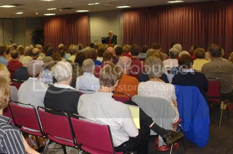 Dr. Walter Brueggemann got his Marquette, Michigan audience involved in his talk about the bible and the environment often resulting in laughter and stunned silence - hundreds turned out for his talks at Northern Michigan University and Bethany Lutheran Church in Ishpeming, Michigan