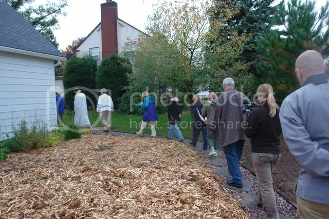 Those attending the blessing were given a tour of the Native Plants Garden