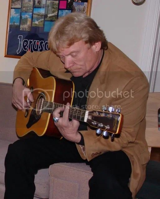 Rev. Hubbard on guitar