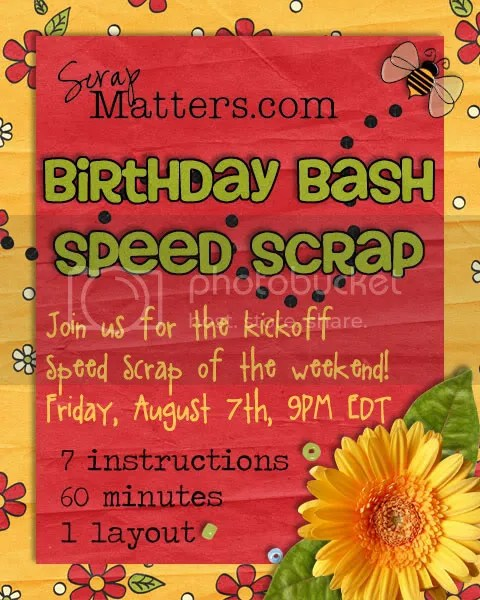 Birthday Bash Speed Scrap #1