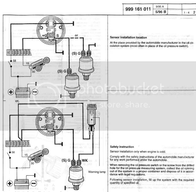 vdo oil pressure gauge wiring diagram vw golf mk4 headlight switch diagrams | get free image about