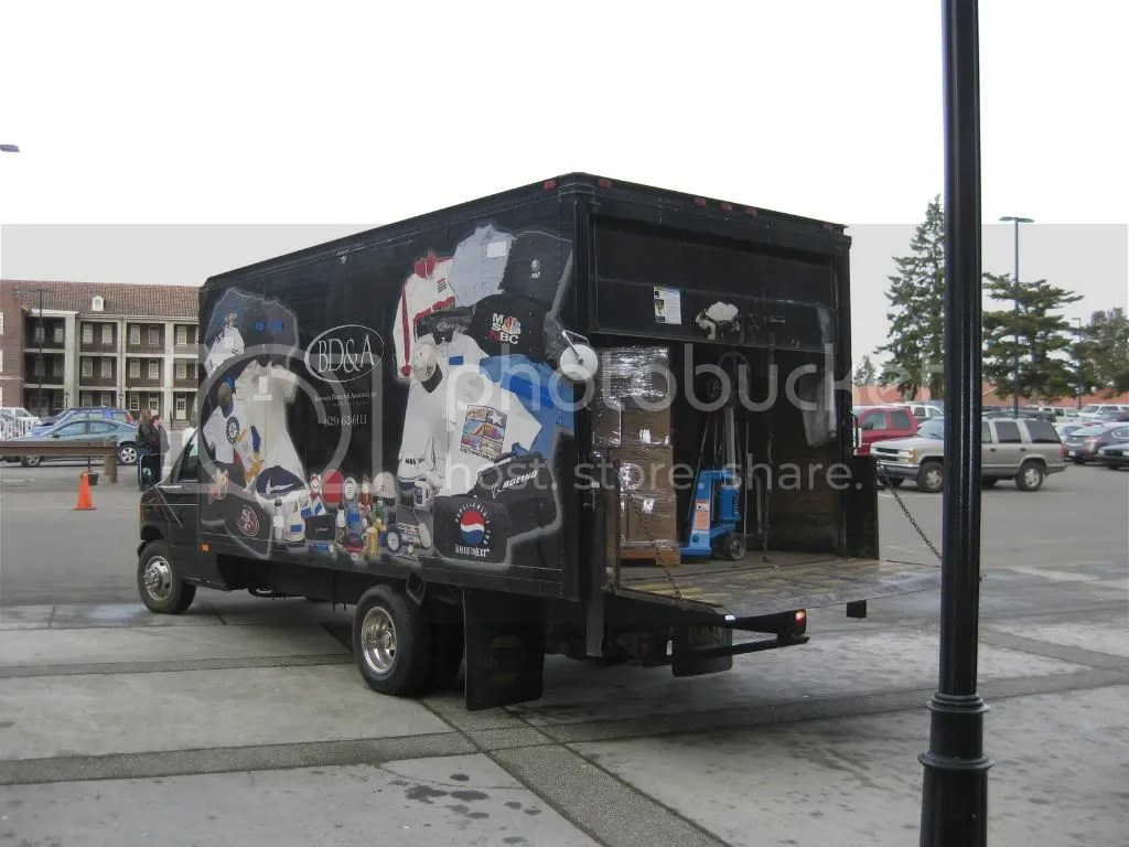 The Truck from BD&A arrives with all the games! THANK YOU!!