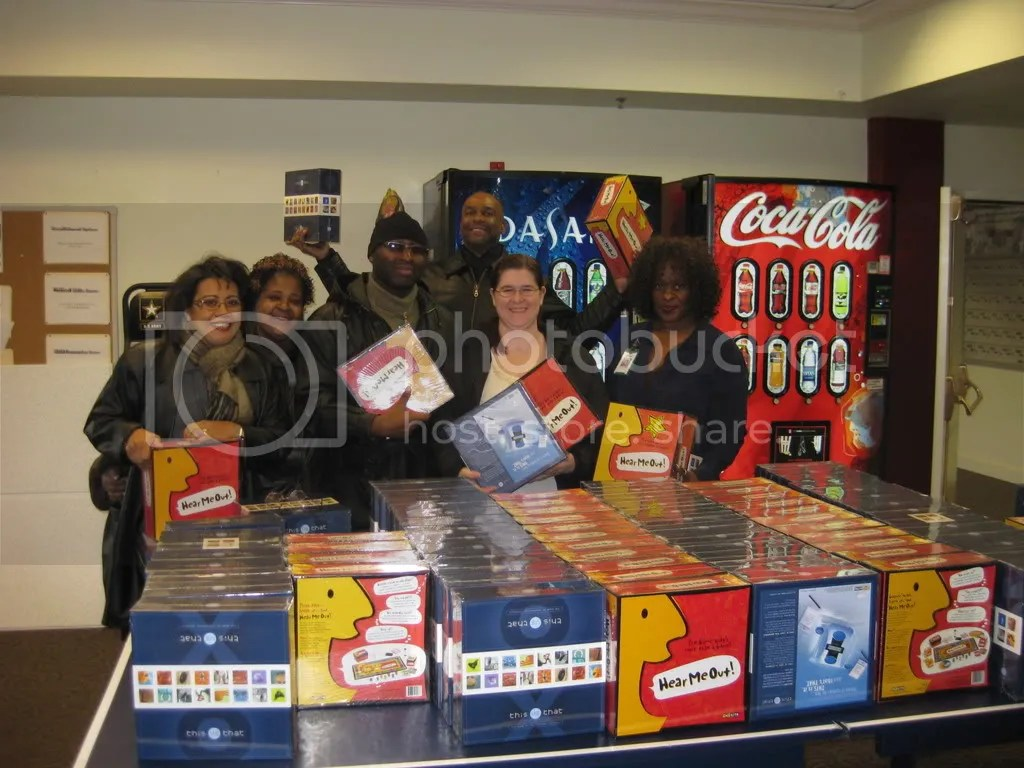Happy OT office group with their games