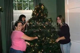 The beginnings of a beautifully decorated Christmas Tree for Ft. Lewis Fisher House