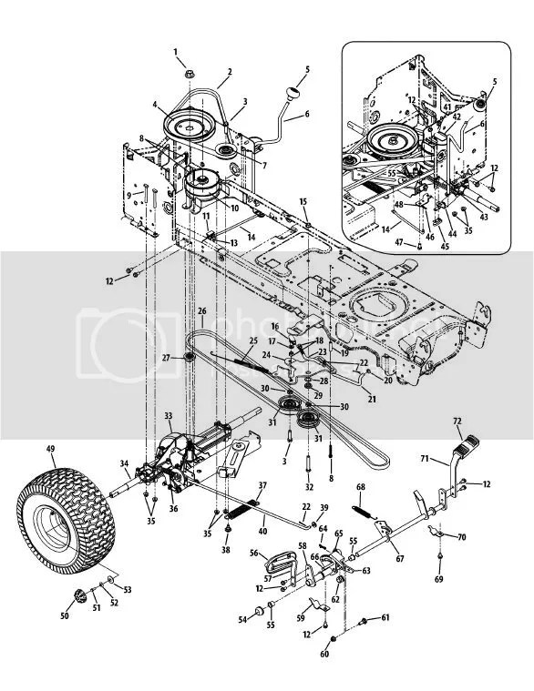 1045 Diagram Deck Ltx Cub Belt Cadet