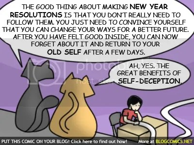 New Year Resolution - Self Deception