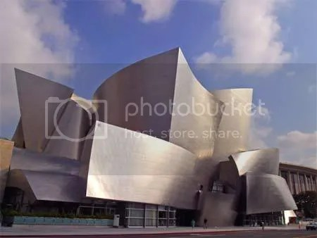 weird building design Disney Concert Hall