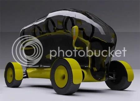 weird car design Peugeot Honey-B