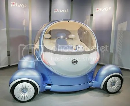weird car design Nissan Pivo 2