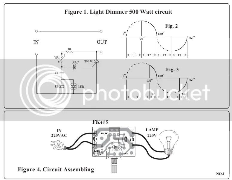 AC Dimmer 500W 220- 240V DIAC / TRIAC Lamp / Light Dimmer