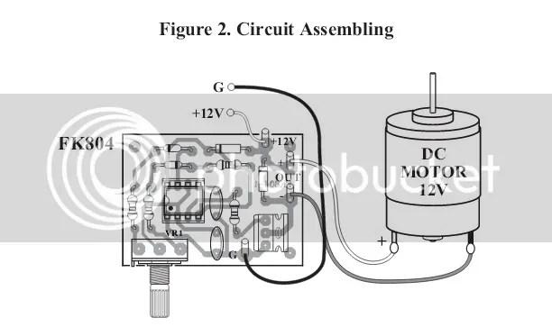 DC Motor Speed Control Circuit HHO / PWM 12V 2A 20W IC