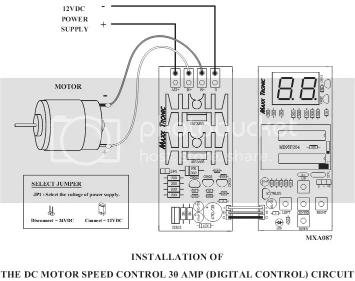 Digital Version DC Motor Speed Control HHO / PWM 12V/24V