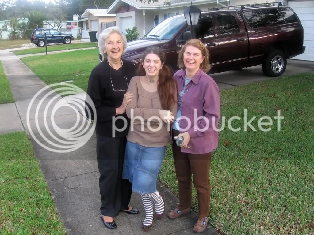 Mom, G-Ma, and me