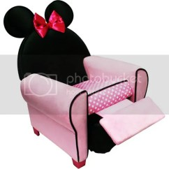 Minnie Mouse Recliner Chair Revolving Legs Disney Childrens Kids Seat On Popscreen