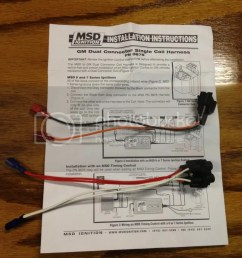 plug play msd lt1 wiring harness for above msd 6al 2 25 shipped  [ 768 x 1024 Pixel ]