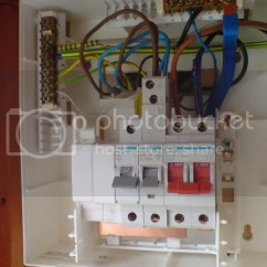Wiring A Garage Consumer Unit Diagram Spotlight 5 Pin Relay Shower Rcd 25 Images